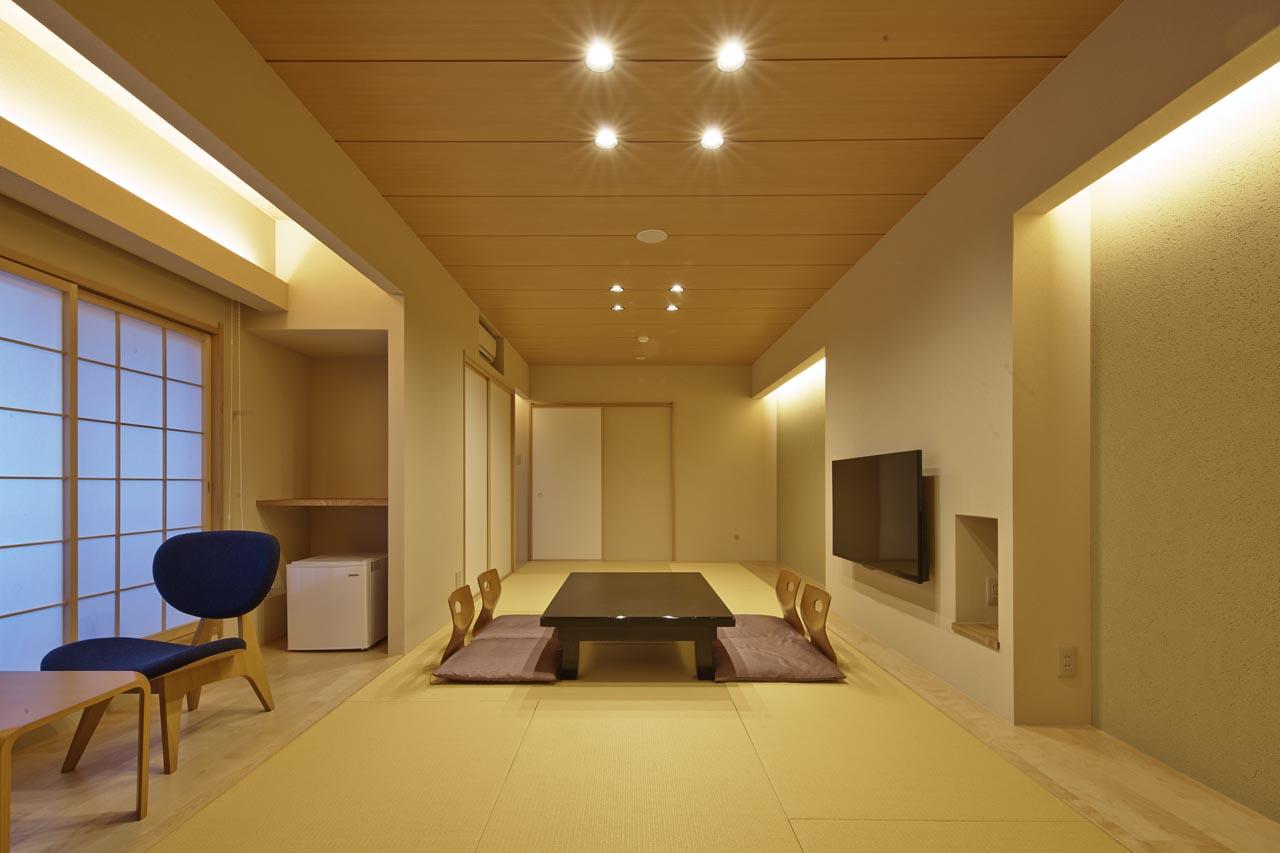 2017年1月重新装修后的京都松荣旅馆本馆的3楼和4楼