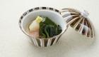 Closing seasonal vegetables dish / Kyoto Ryokan Shoei